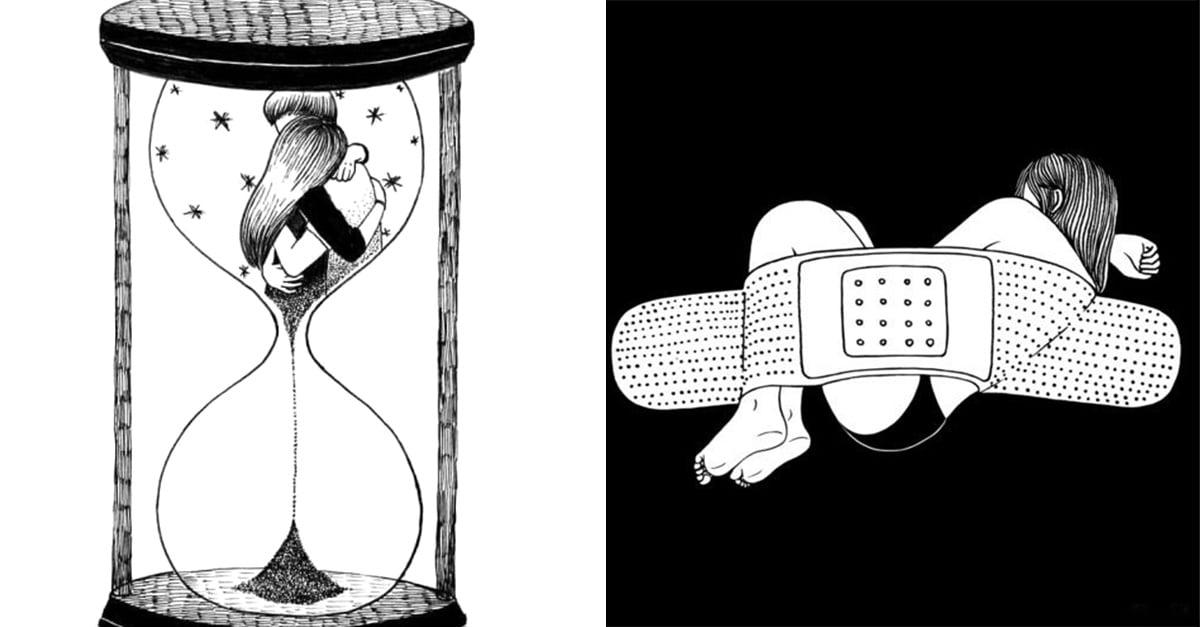 ilustradoras que entienden el profundo sufrimiento femenino