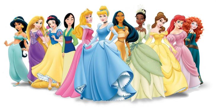 grupo de princesas disney
