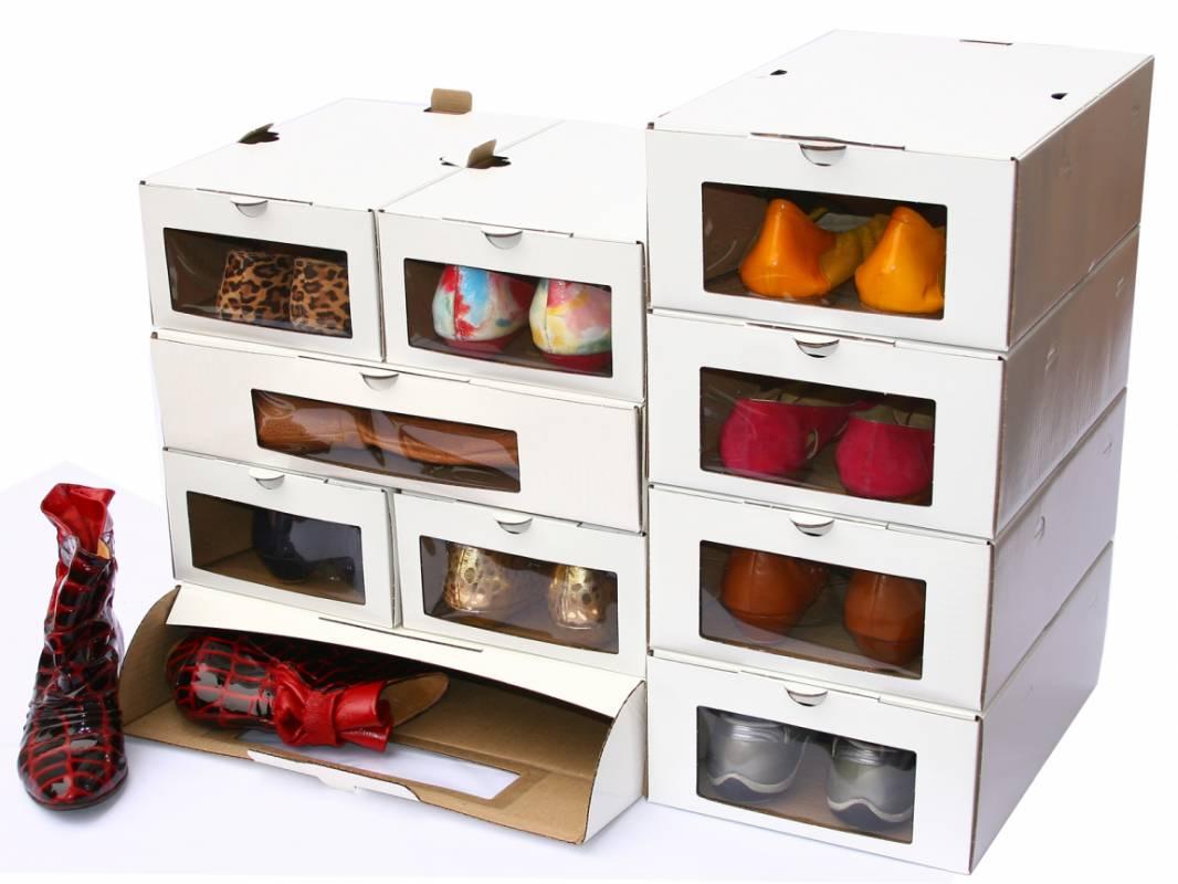 15 Creativas Formas De Tener Tus Zapatos Organizados ~ Cajas Transparentes Para Zapatos