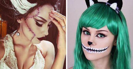 15 maquillajes sencillos y divertidos que podrás realizar en poco tiempo para transformarte este Halloween
