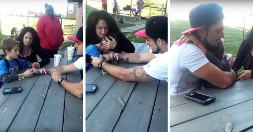 Este padre grabó el desgarrador momento en el que su hijo se entera que su mamá murió por sobredosis