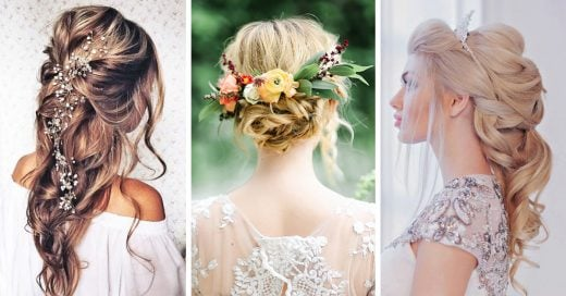 15 magníficos peinados de novia dignos de una princesa de Disney