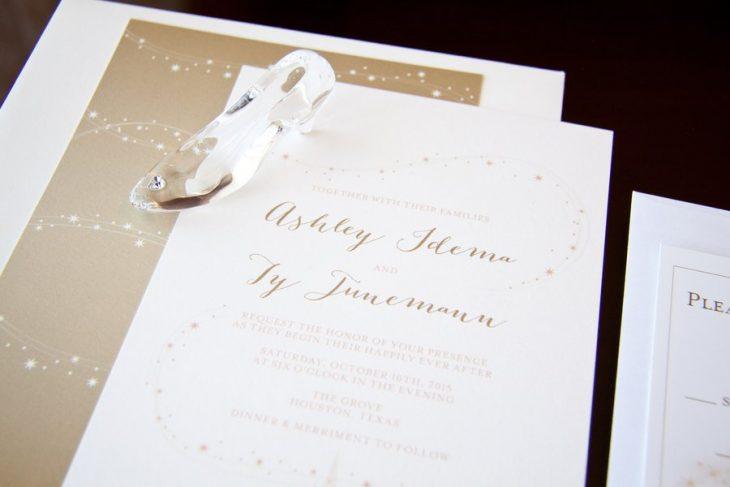 La invitaciones de la boda.