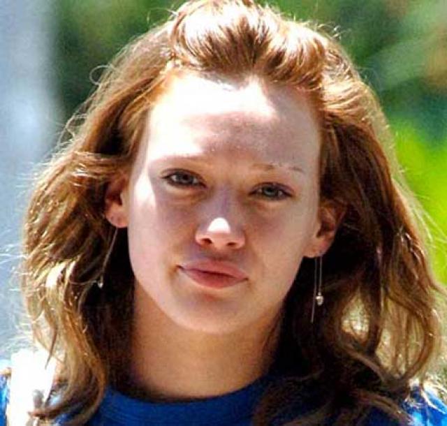 Hilary Duff sin maquillaje.