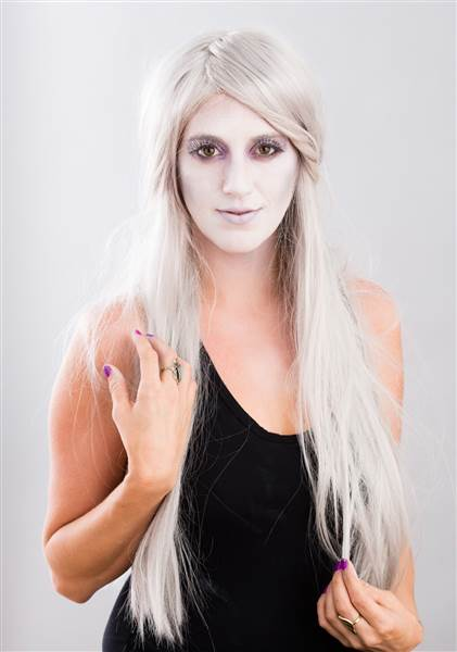 Maquillaje de fantasma.