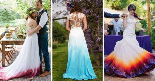 20 ideas para personalizar tu vestido de novia con colores deslavados