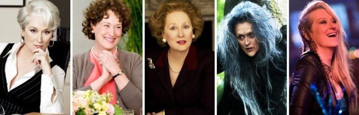 Mery Streep diferentes personajes