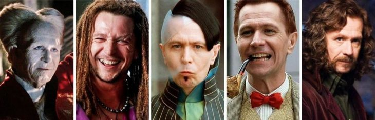 Gary Oldman in different characters