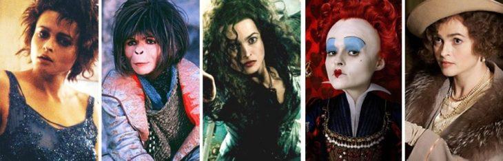 Helena Bonham Carter en diferentes personajes