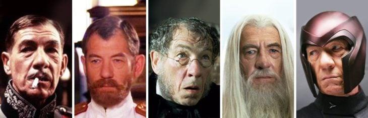 Ian McKellen in different characters