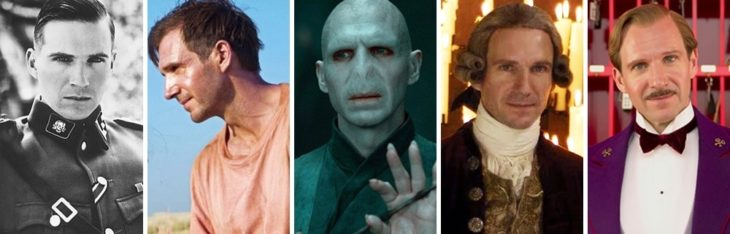 Ralph Fiennes in different characters