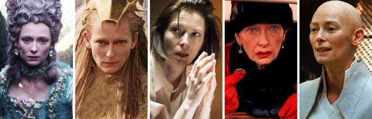 Tilda Swinton en diferentes personajes