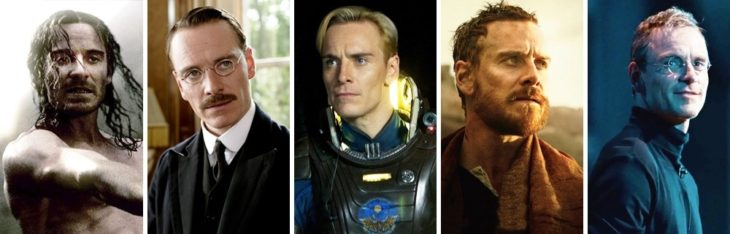 Michael Fassbender in different characters