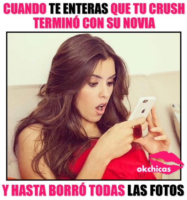 meme ok chicas mujer con celular