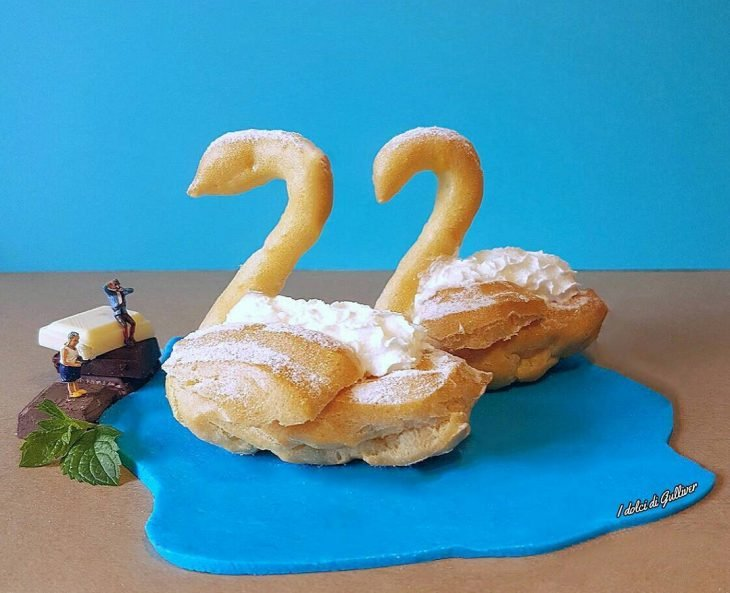 panes en forma de cisne