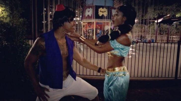 La princesa Jasmín y su Aladdin.