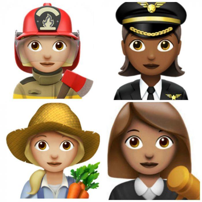 emojis de mujeres profesionistas