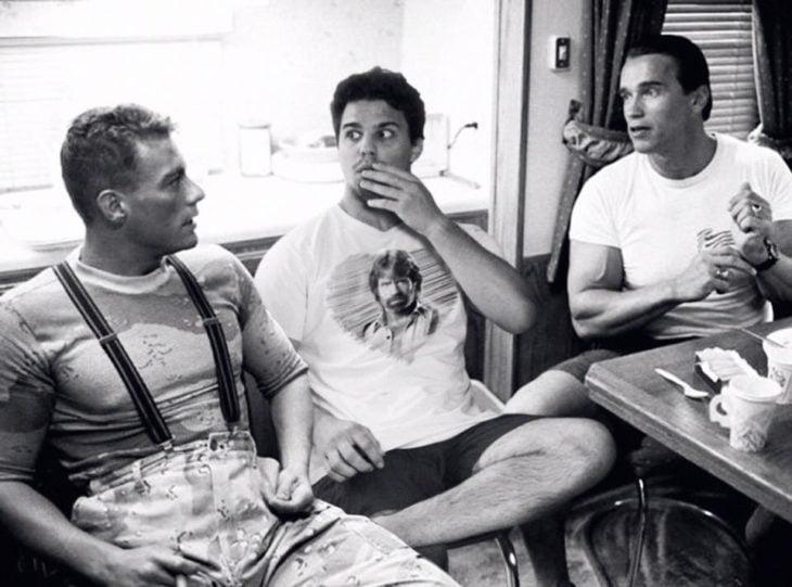 average with Van Dam and rob Schwarzenegger
