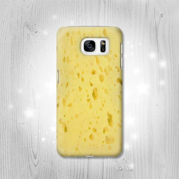 protector para celular con estampado de queso