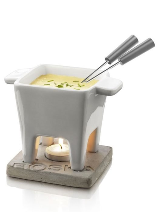 ceramic bowl cheese fondue
