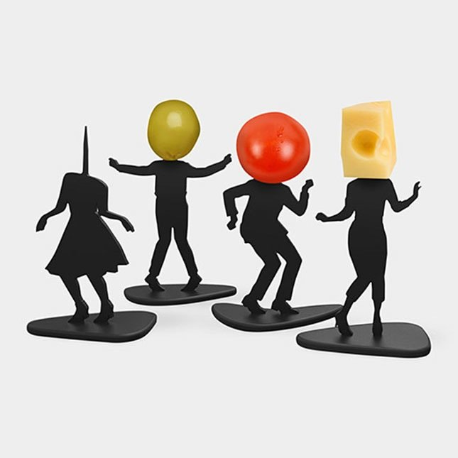 skewers with human form
