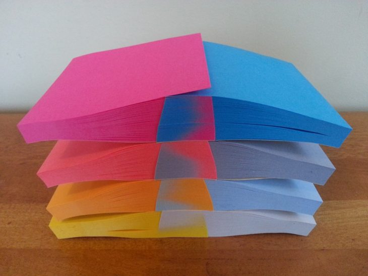 post its affluent colors of each