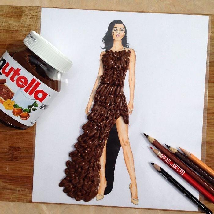 30 Increíbles Diseños De Vestidos Hechos Con Comida