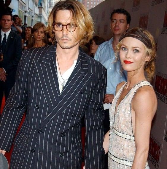 Johnny Depp and Vanessa Paradis.