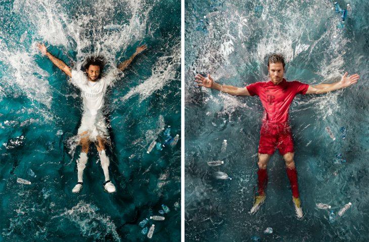 Uniforme de Real Madrid y Bayern de Múnich reciclados