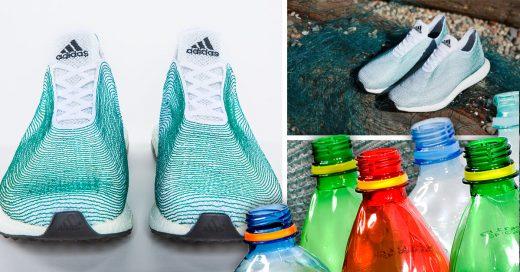 ¡Adidas ayuda al medio ambiente! Lanza unos tenis hechos con botellas de plástico del océano