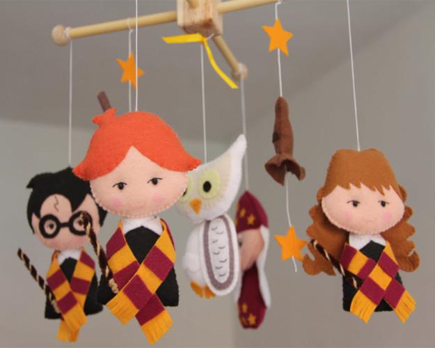 Móvil con los personajes de Harry Potter