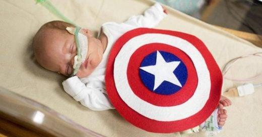 Bebés prematuros usaron disfraces de superhéroes como homenaje a la lucha por su vida