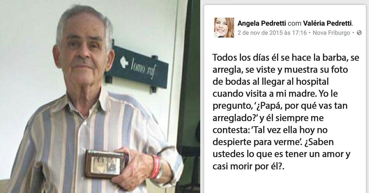 Este hombre de 85 años vestía elegante todos los días para visitar a su esposa en el hospital