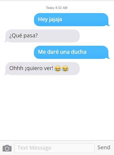 Mensaje de texto de acoso