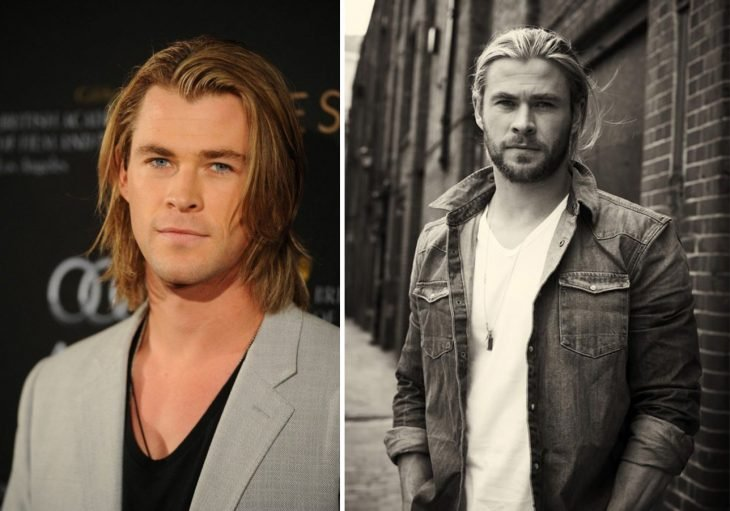 Chris Hemsworth before and after.