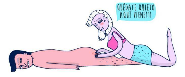ilustración de mujer tronando granos