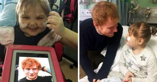 Trata de no llorar cuando veas a Ed Sheeran cantando para esta pequeña