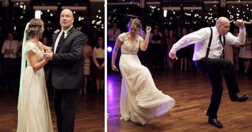 El padre de esta novia arrasa con el mejor baile padre-hija en una boda