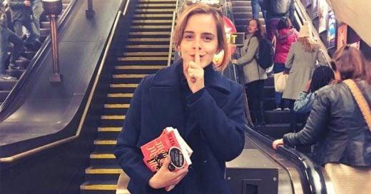 Emma Watson esconde libros en Londres