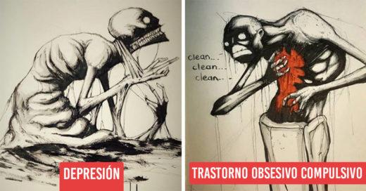 16 Enfermedades mentales sobrecogedoramente ilustradas