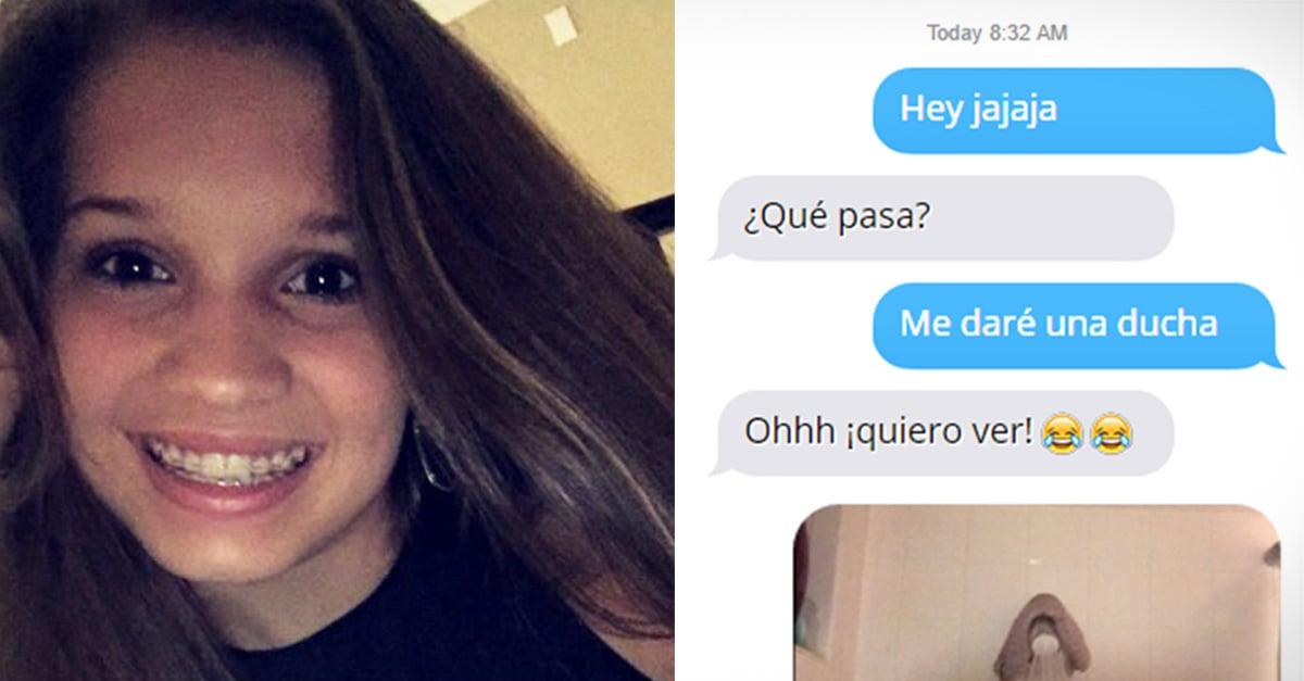 Esta chica recibió un mensaje de acoso y su respuesta ¡hizo explotar a todos de la risa!