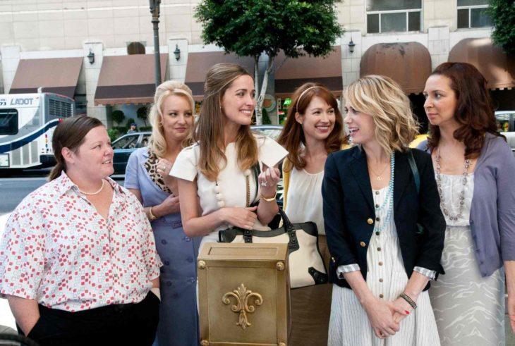 group of happy women smile