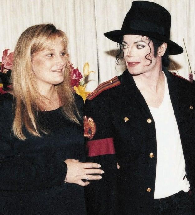 Michael Jackson and Debbie Rowe.