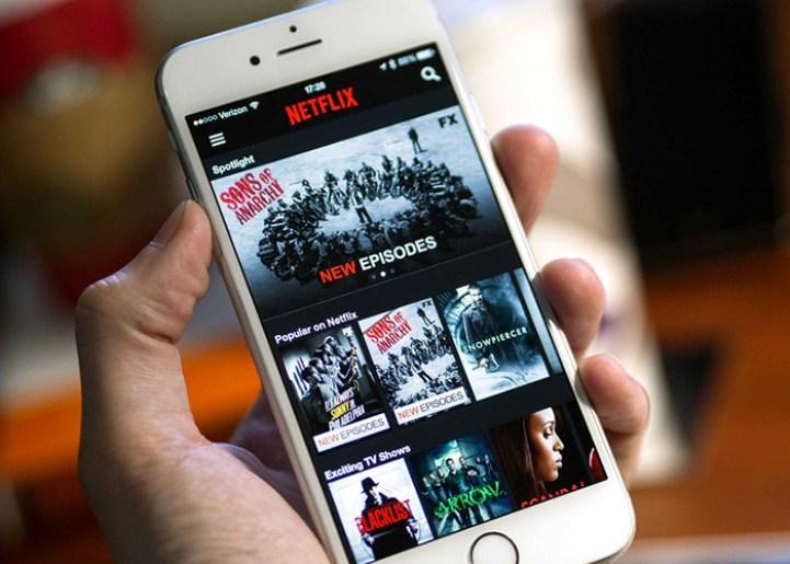Netflix abierto desde un celular