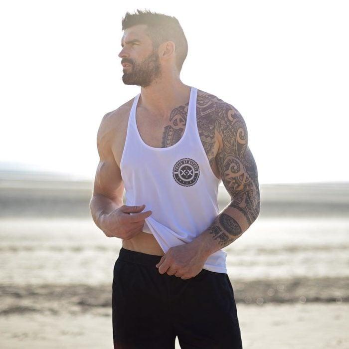 Bearded guy on the beach