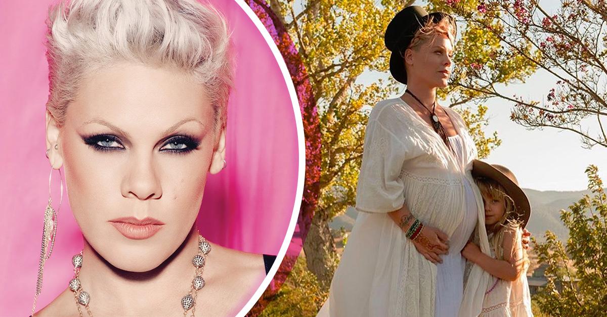Pink anuncia su segundo embarazo en redes sociales y ¡luce más feliz que nunca!