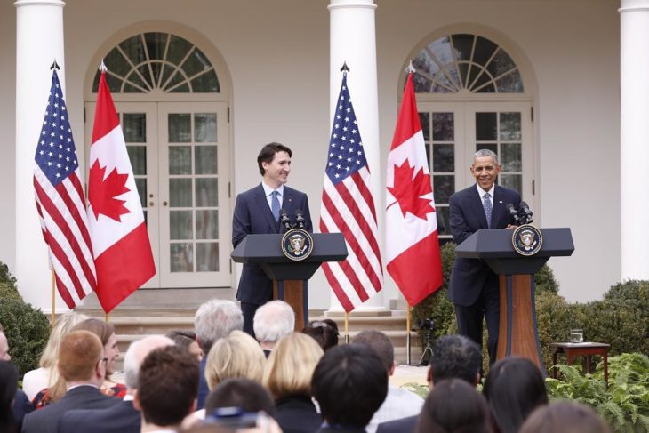 Justin Trudeau with Obama