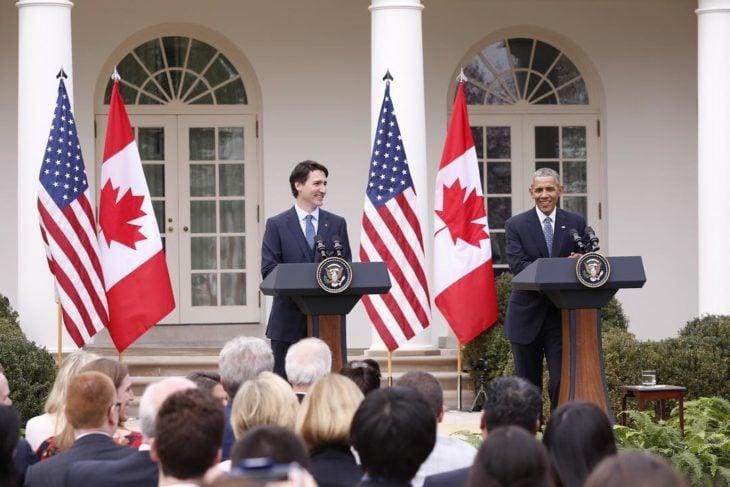 Justin Trudeau con Obama