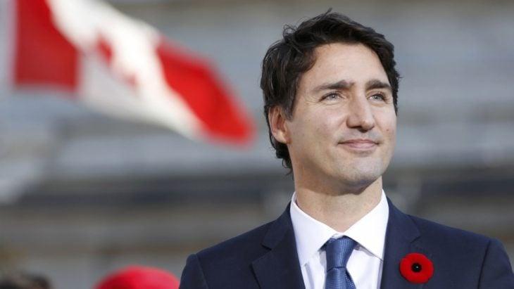 Justin Trudeau sonriendo