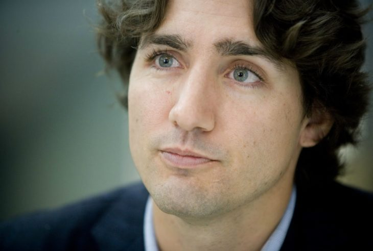 Justin Trudeau looking at the horizon